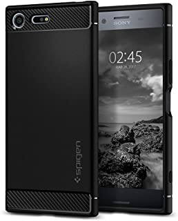 Spigen Rugged Armor Designed for Sony Xperia XZ Premium Case (2017) - Black