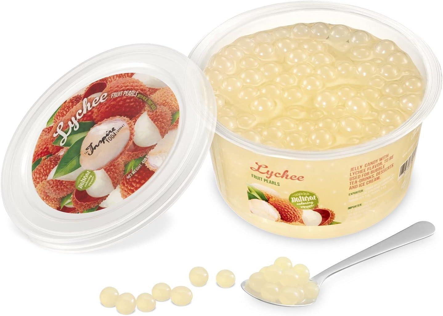 Popping bobas de Lichi para Bubble tea, paquete de 450gr