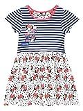 Disney Minnie Mouse - Robe - Minnie Mous - Fille - Blanc - 4-5 Ans