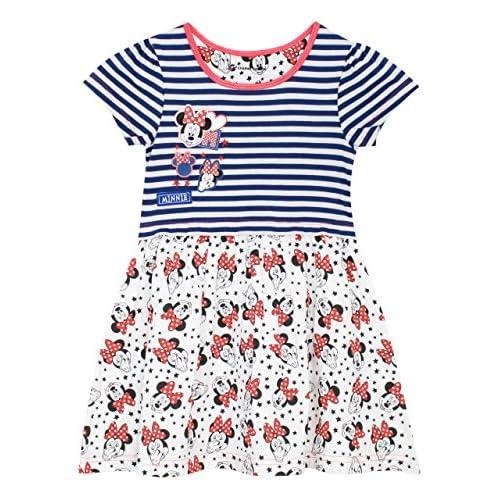 Disney Vestito Minnie per Ragazze {Bianco 4-5 anni}
