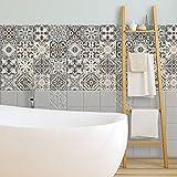 72 (Piezas) Adhesivo para Azulejos 10x10 cm - PS00025 - Horta - Adhesivo Decorativo para Azulejos para baño y Cocina - Stickers Azulejos - Collage de Azulejos