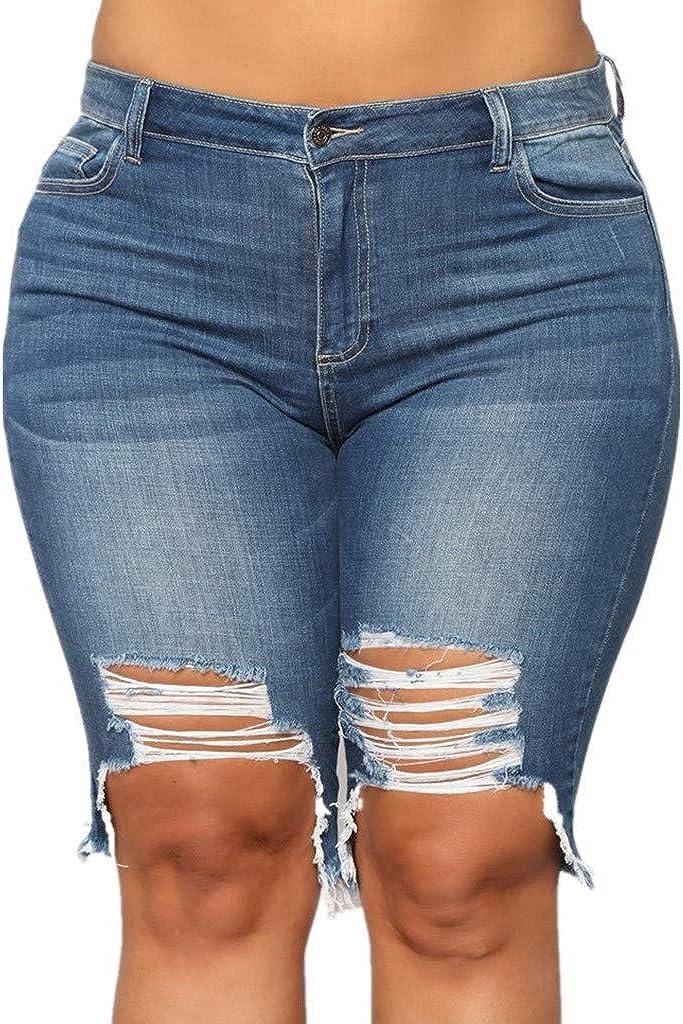 Euone_Clothes Jeans Pant for Women, New Women Summer Short Jeans Denim Female Pockets Wash Denim Shorts