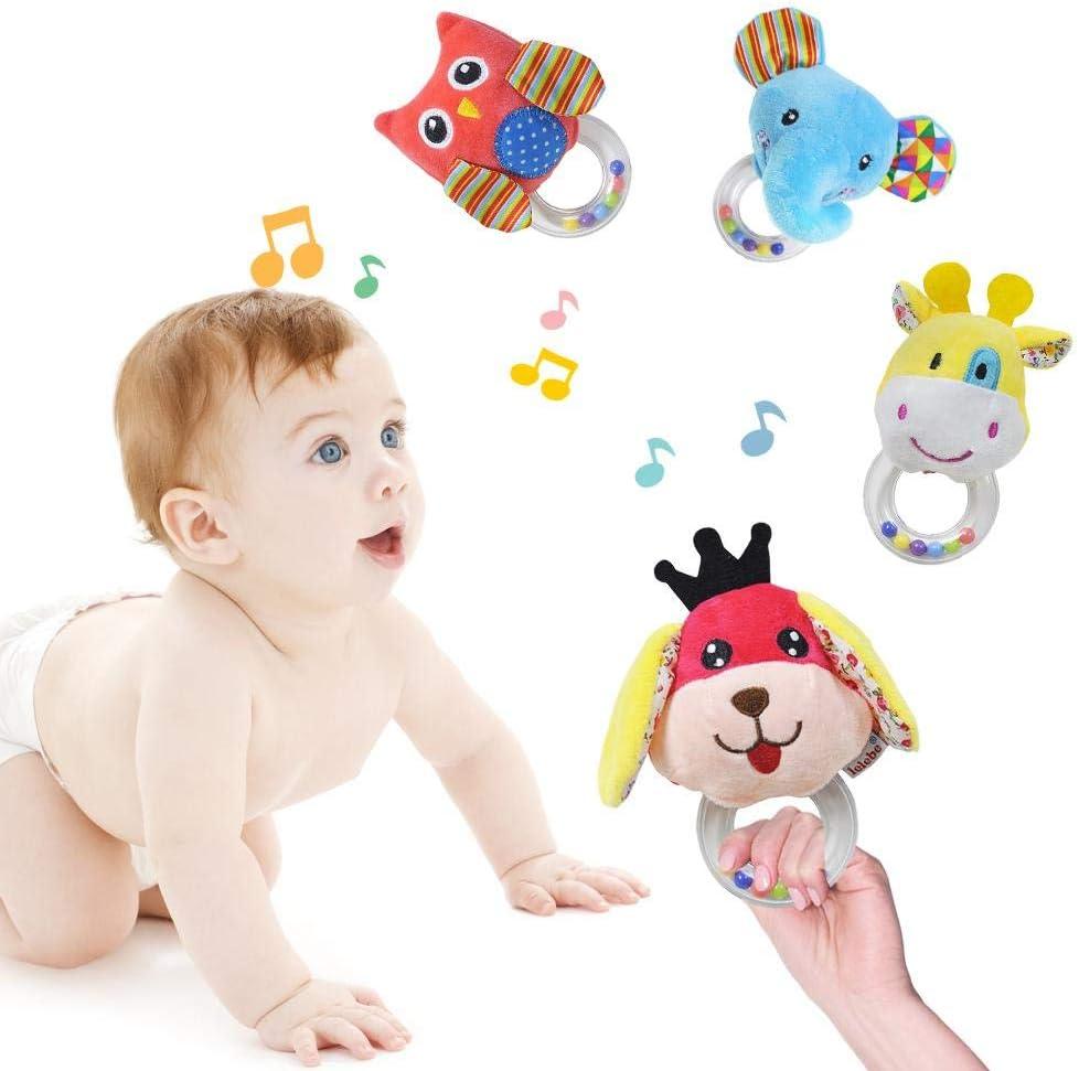 Juguete Para Animales De Felpa Suave Y Agradable Para La Piel Sonajero Para 0-3 A/ños,Regalos Bebe Recien Nacido IYoung Juguete Para Beb/é Sonajero