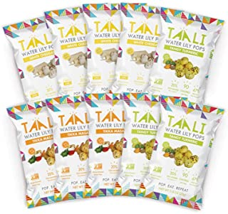 Taali Variety Pack Water Lily Pops (10-Pack) - Three Delicious Flavors   Protein-Rich Roasted Snack   Non GMO Verified - Individual 0.8 oz Bags