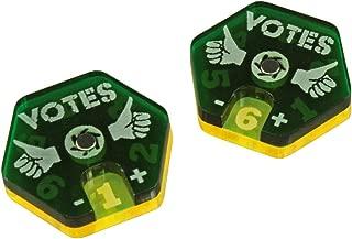 LITKO Gaslands Miniatures Game Vote Dials, Translucent Green & Fluorescent Yellow (2)