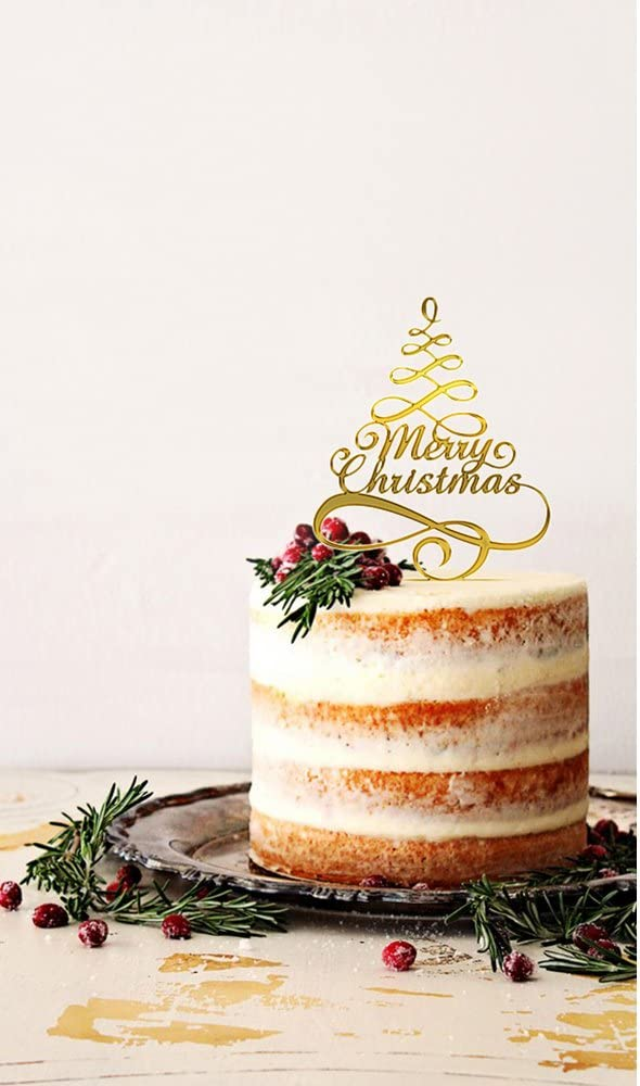Usa Sales Merry Christmas Cake Topper Selection Color Shiny Red Or Mirror Gold Christmas Cake Decorations Christmas Party Decorations Seller Mirror Gold Amazon Ca Home Kitchen