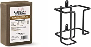 American Stockman 4 lb Trace Mineral Brick + Tough-1 Black Salt Block Holder