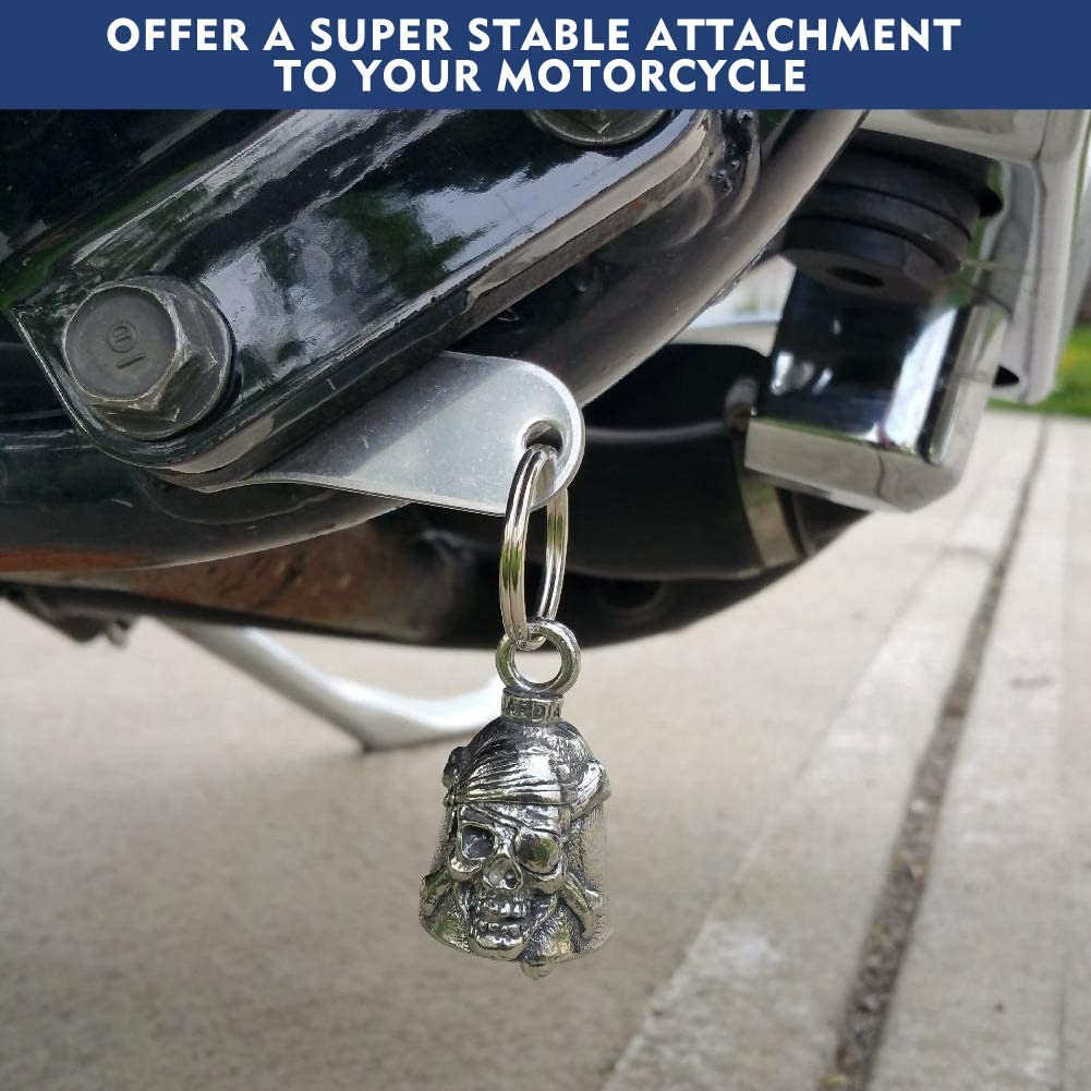 Harley Davidson Biker Motorcycle Luck Riding Bell Hanger Fit for Any Bell with a Ring Silver GETIT Guardian Bell Hanger