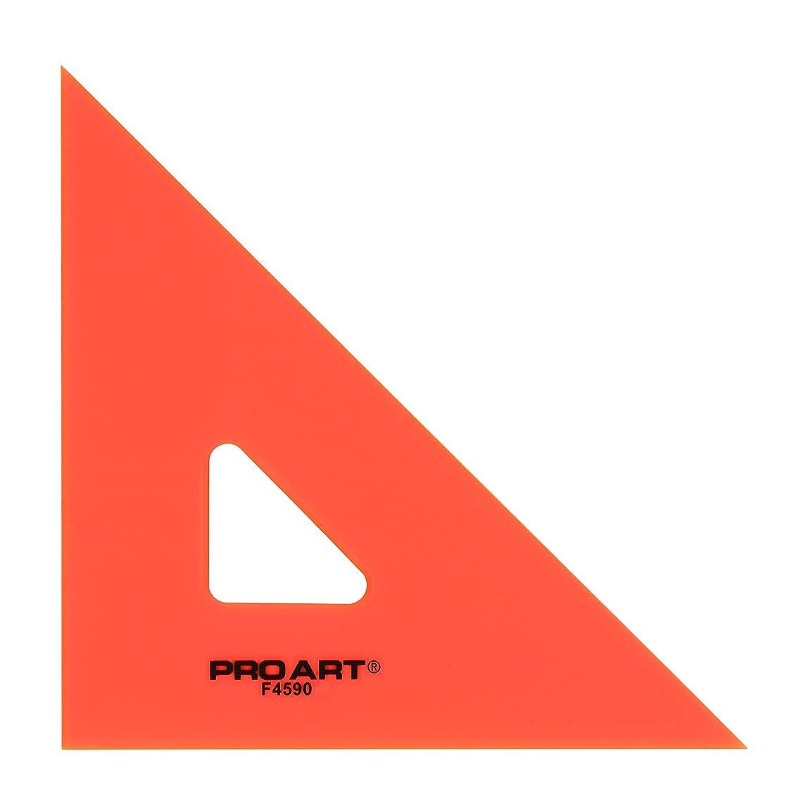 PRO ART 6-Inch 45/90-Degree Triangle, Fluorescent