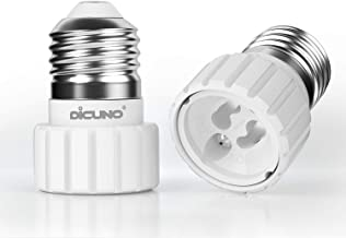 DiCUNO E27 to GU10 Adapter, Medium E27 to GU10 Light Bulb Lamp Socket Base Converter, Maximum Wattage 200W, 2-Pack[Energy ...