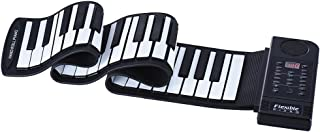 Decdeal Portable Silicon 61 Keys Roll Up Piano Electronic MIDI Keyboard with Built-in Loud Speaker