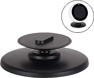 CoWalkers Soporte de aluminio de montaje en soporte completo de 360 ° Rotación horizontal Soporte de metal para Amazon Echo Spot - Base Magnetice resistente Antideslizante, Accesorios de Echo Spot para Base de aplicaciones para el hogar / oficina - Negro