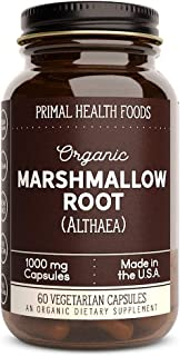 Primal Health Foods Organic Marshmallow Root - 60 Capsules 1,000 mg Per Capsule [Vegetarian, Organic, Non-GMO & Gluten Free]