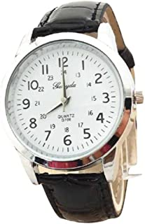 Pocciol Watch,Soft Elegant Analog Luxury Sports Leather Strap Quartz Mens Wrist Watch