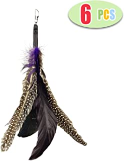 Highland Farms Select Handmade Natural Feather Cat Toy Da Bird Refills - Interactive Cat and Kitten Toy