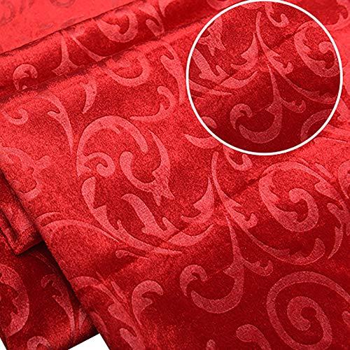MUYUNXI Tela De Terciopelo Suave para Coser De Chaquetas Decoración Decoración del Hogar Cortinas Tapicería Vestido Sillas 145 Cm De Ancho Vendido por 2 Metro(Color:Gran Rojo)
