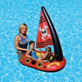 Piscina De Verano Barco Pirata Inflable Fila Flotante, Playa De Verano Juguetes De Agua Flotador para Niños