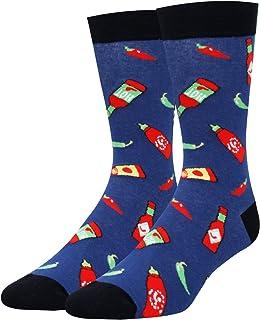 HAPPYPOP Men`s Funny Taco Pickle Dill Donut Socks Crazy Food Socks for Food Lover