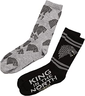 Game of Thrones King in the North, Wolf Toss Adult Crew Socks
