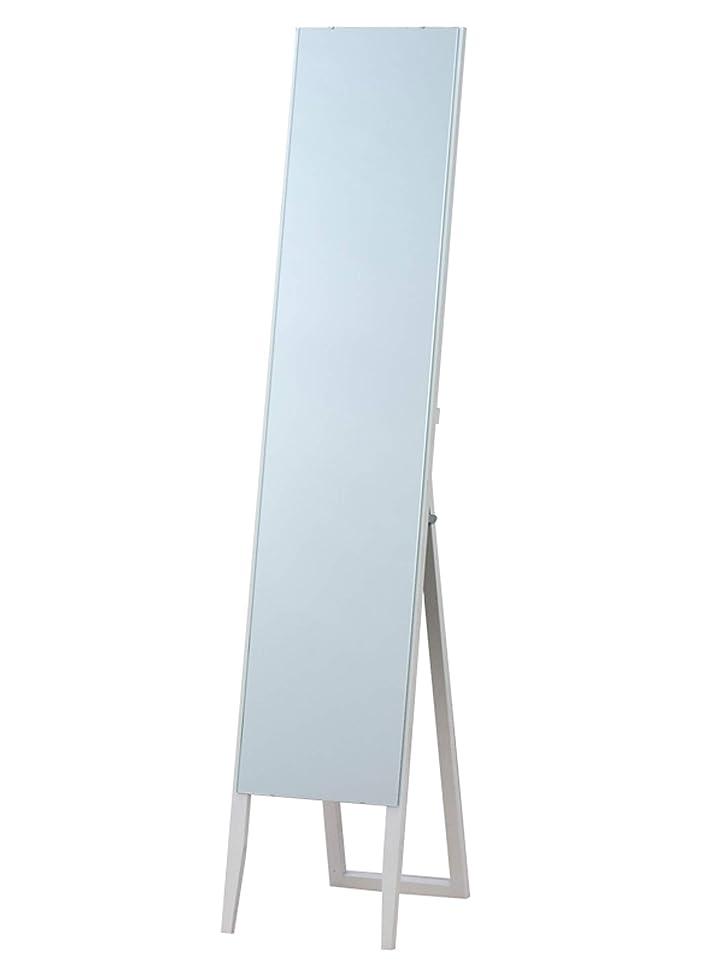 読書をする喉が渇いた霜枠なし ノンフレーム スタンドミラー ホワイト(白) 全身鏡 幅30cm x 高さ150cm 飛散防止 シンプル ミラー ショップ 催事 百貨店 店舗 姿見