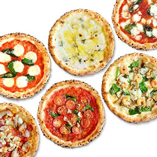 【公式】【冷凍ピザ】PIZZA SALVATORE CASA ナポリピッツァスペシャルセット 6枚 (マリナーラ、マルゲリータ、ナポリサラミとチキンのピリ辛ピッツァ、プレミアムマルゲリータ、4種のチーズのピッツァ、海老とキノコのクリームピッツァ) (直径21cm×6枚) 国産小麦 手作り 窯焼き サルヴァトーレ クオモ