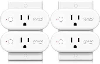 Smart Plug Gosund 16A Smart Home WiFi Outlet Work with Alexa Google Home,4 Pack Mini Socket with Timer Function and Overlo...