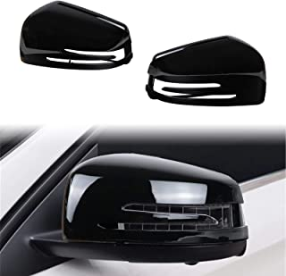 DSISIMO Gloss Black Rearview Mirror Cover Rear View Side Door Mirror Cap Trim Fit For Benz A B C E S CLA GLK GLA Class W176 W246 W204 C117 W212 X156 W221 X204