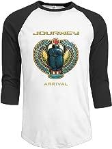 Men Journey Arrival Vintage Plain Raglan T Shirt 3/4 Sleeve