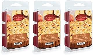 CANDLE WARMERS ETC 3-Pack 2.5 oz Wax Melt Tart Brick, Hot Apple Pie