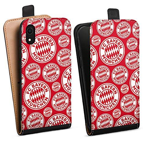 DeinDesign Tasche kompatibel mit Apple iPhone Xr Flip Case Hülle FCB Muster FC Bayern München