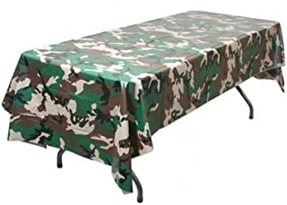 Oojami Pack of 3 Camouflage Plastic Tablecover Camo Tablecloth - 54