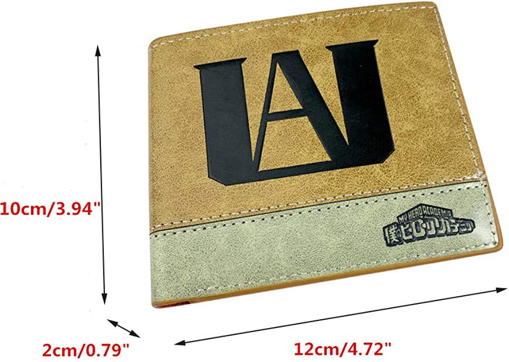 ASLNSONG Leather Bifold Short Wallet With Coin Pocket Cartoon Casual Short Wallet Fan Accessory For Boys And Girls
