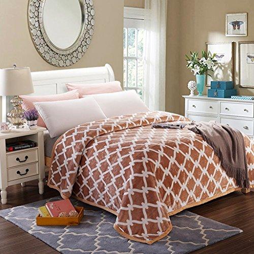 Wddwarmhome Couverture chaude de lit de chambre à coucher d'hiver de couverture chaude de lit de chambre à coucher d'hiver de polyester de douille chaude et confortable Couvertures ( taille : 200*230cm )