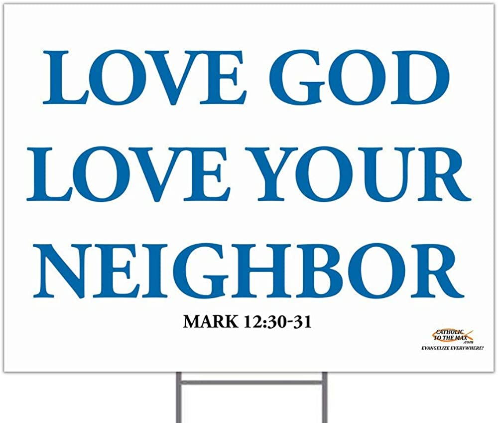 Hail Mary Gifts Love God Free Shipping New Yard Neighbor Free shipping on posting reviews Sign