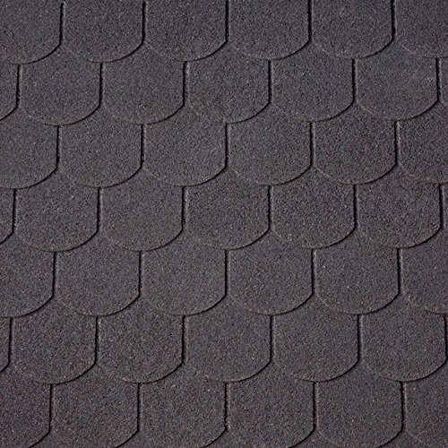 Bitumen-Dachschindeln Biberschwanzschindeln schwarz, 3 m², Dachbelag, Bitumenschindeln Dacheindeckung Gartenhaus Dachschindeln