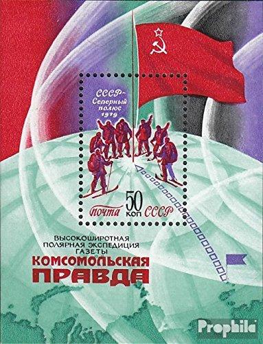 Prophila Collection Unione Sovietica Block 142 (Completa Edizione) 1979 Skiexpedition a Polo Nord (Francobolli per i Collezionisti) Sport Invernali