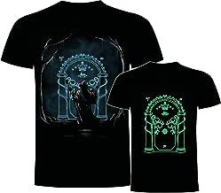 Foreverdai Camiseta Gandalf Puerta Moria Brilla EN LA Oscuridad - Señor de los Anillos