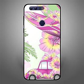 Huawei Honor 8 Pink Car n Leaves, Zoot Designer Phone Covers
