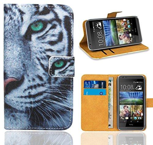 HTC Desire 620 Handy Tasche, FoneExpert® Wallet Hülle Flip Cover Hüllen Etui Ledertasche Lederhülle Premium Schutzhülle für HTC Desire 620 (Pattern 6)