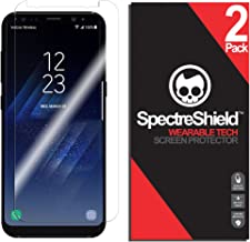 Spectre Shield (2 Pack) Screen Protector for Samsung Galaxy S8 Plus Accessory Samsung Galaxy S8 Plus Case Friendly Full Coverage Clear Film