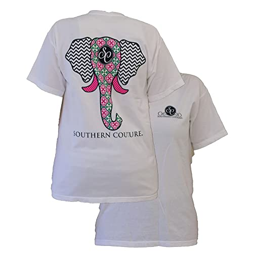 42a7751221e9de Southern Couture Women s Elephant Short-Sleeve Tee Shirt