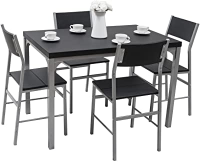 Amazon.com: Powell Putnam mesa de comedor 5 unidades), color ...
