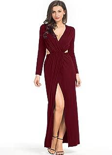 cutout high neck maxi dress