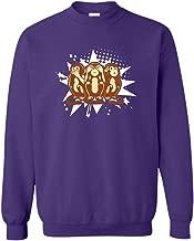 Zira-S Sock Monkeys Cute Crewneck Sweatshirt, Long Sleeve Tshirt