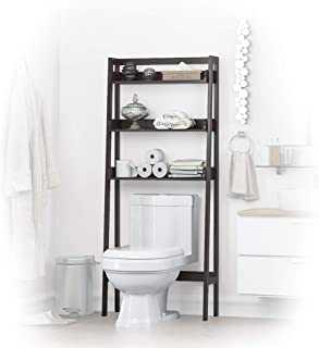 UTEX 3-Shelf Bathroom Organizer Over The Toilet, Bathroom Spacesaver (Espresso)