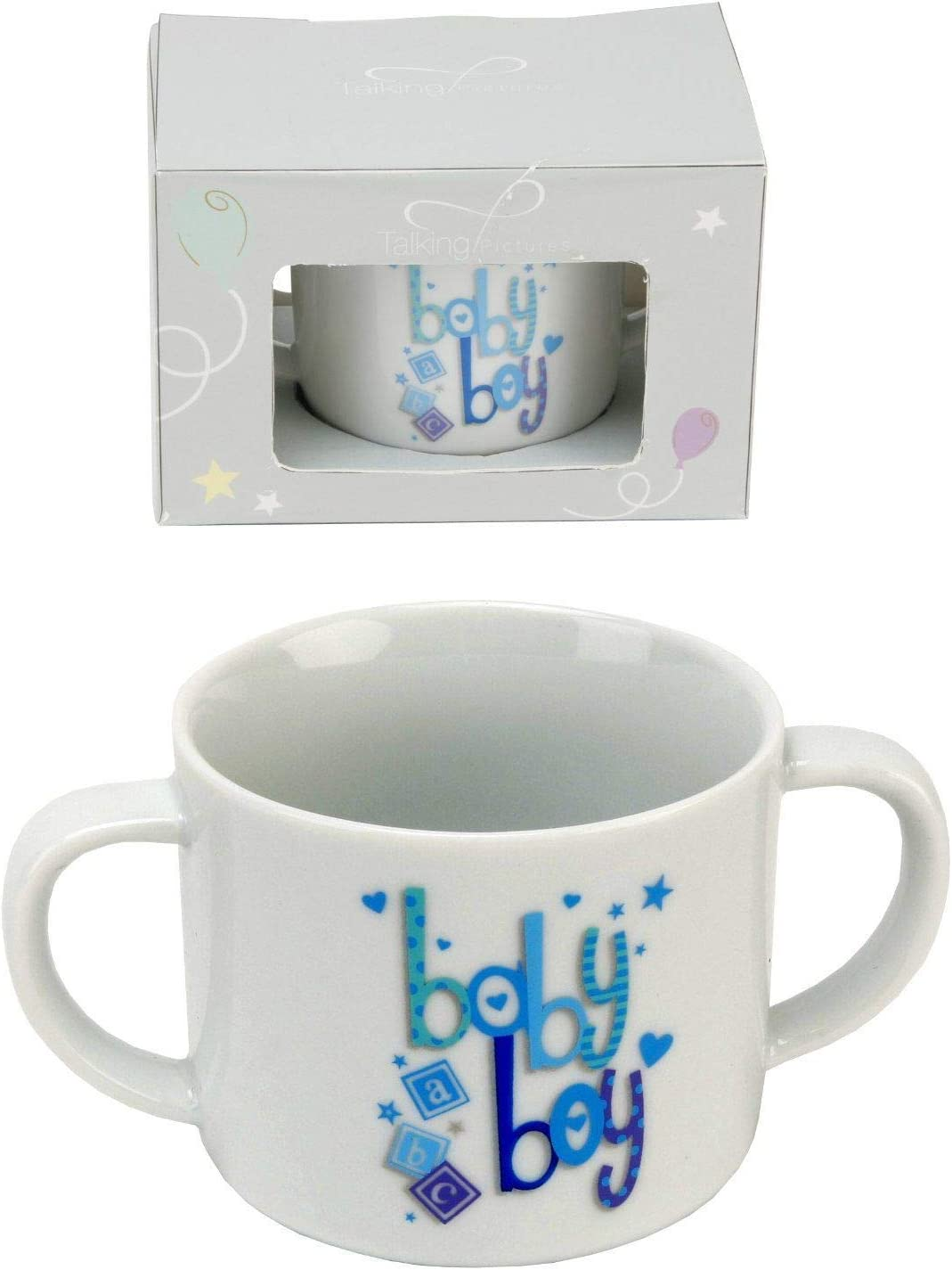 Baby Boy 2 handled Max 82% OFF Blue fine Talking drinking Pictu by china Popular overseas cup