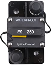 T Tocas 250 Amp Circuit Breaker with Manual Reset High Amp (No Manual button disconnect), Waterproof, Flush-Mount Circuit Breaker