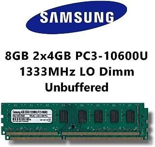 Samsung Memoria RAM DDR3 para ordenador con doble canal (PC3 10600U, 2 x 4 GB, 1333MHz, LO-DIMM