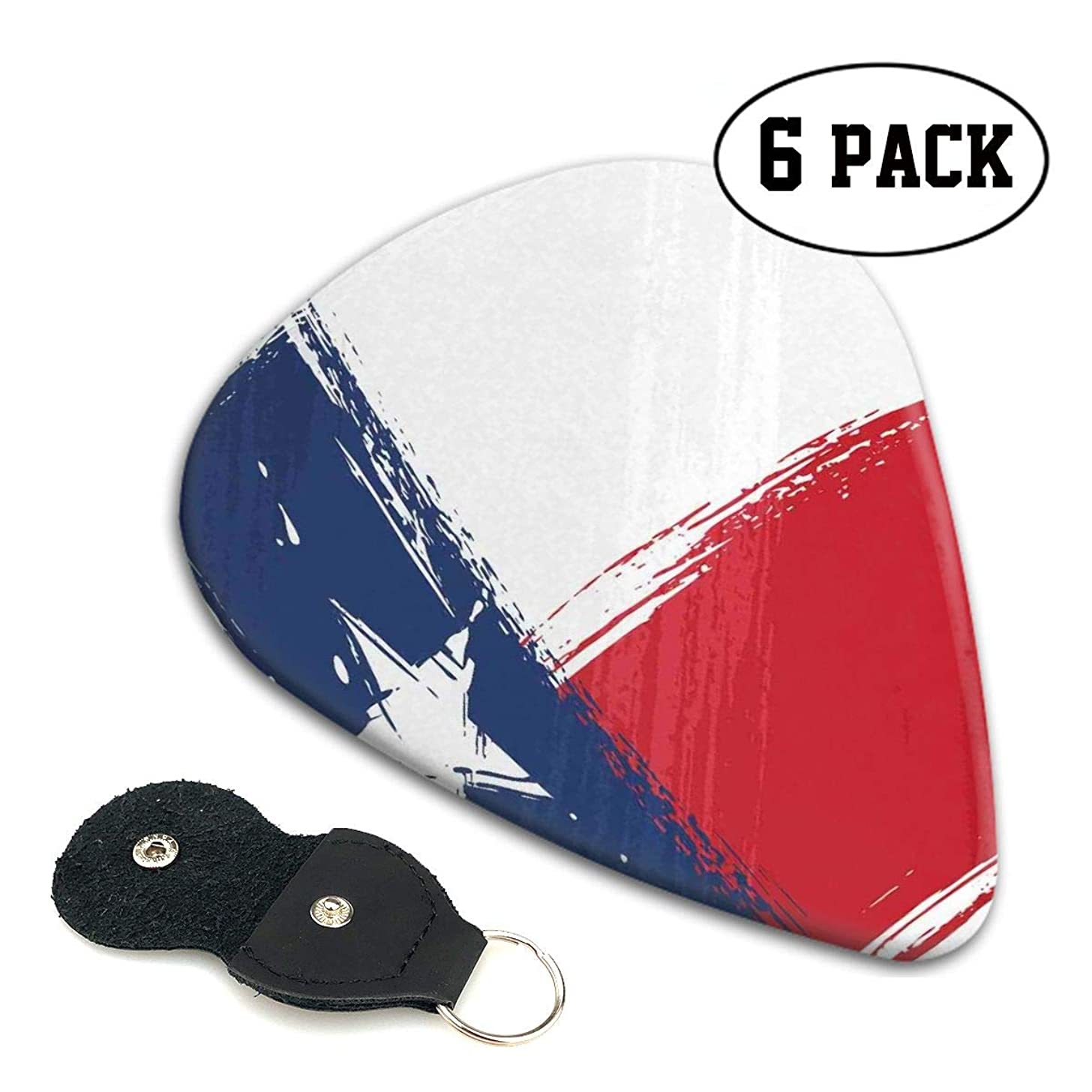 Guitar Picks 6 pcs,Grunge Flag With Watercolor Brush Strokes Independent Country