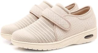 Sponsored Ad - W&LESVAGO Breathable Lightweight Adjustable Diabetic Shoes Wide Width Air Cushion Walking Sneakers for Wome...